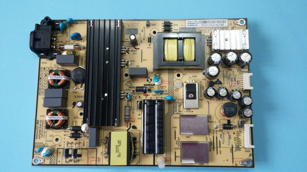 TCL 50FS3800  81-PBE050-H92    power  supply board - Electronics TV Parts - GalaParts.com