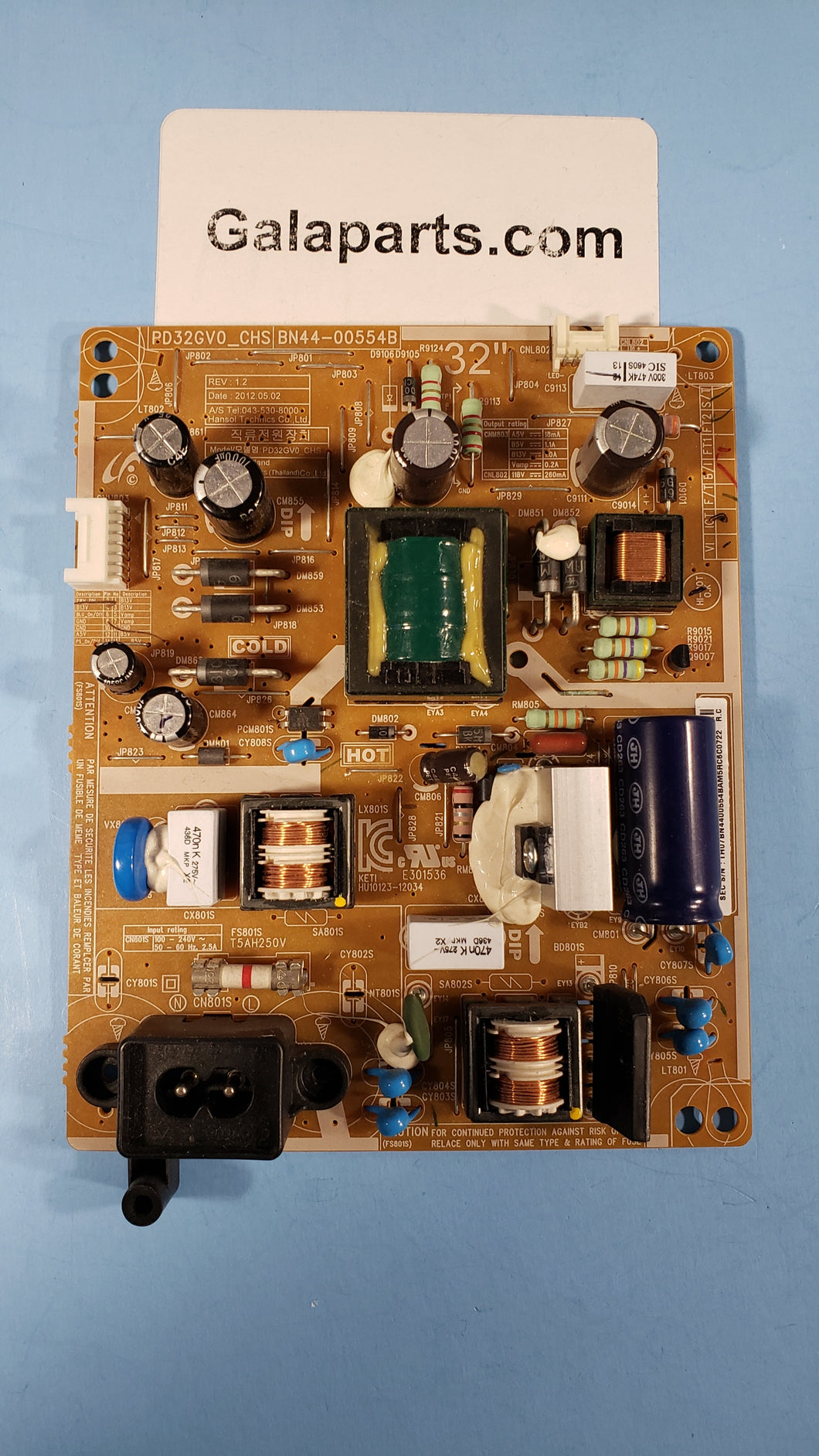 BN44-00554B PD32GV0_CHS UN32EH4003F POWER BOARD SAMSUNG - Electronics TV Parts - GalaParts.com