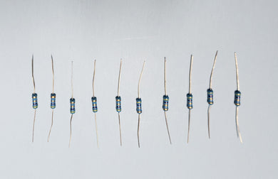 100 pcs mix resistors 0.5W from 1.0 to 10 ohm FREE CANADA SHIPPING