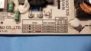 YP47LPBL EAY60803401 47LE5300 LG POWER BOARD