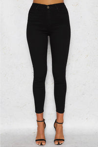 KYLIE SKINNY DENIM JEANS - Black