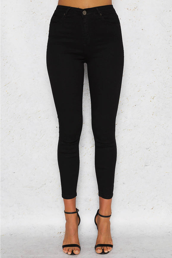 KYLIE DENIM JEANS - Black