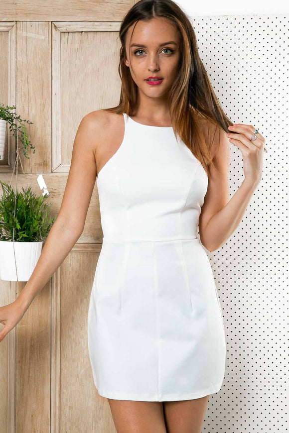 VERONICA MINI DRESS - White