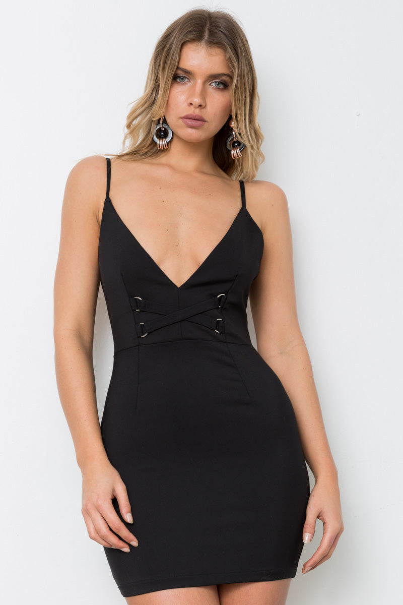 MARTHA MINI DRESS - Black