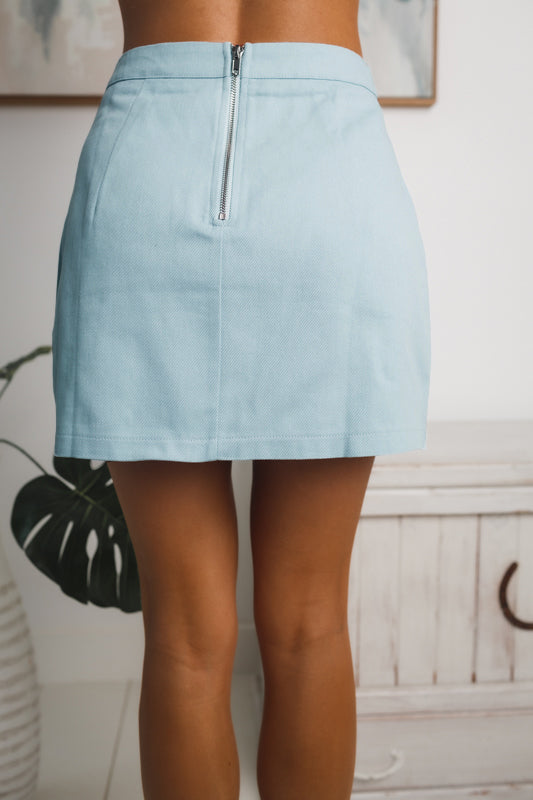 RALIA MINI SKIRT - Blue