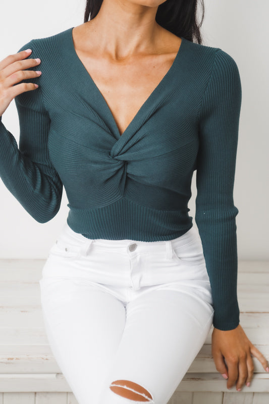 BENEATH ME LONG SLEEVE BODYSUIT - Dark Teal