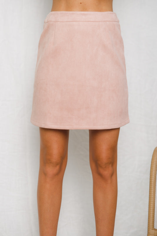 CHOC CHIP MINI SKIRT - Dusty Pink