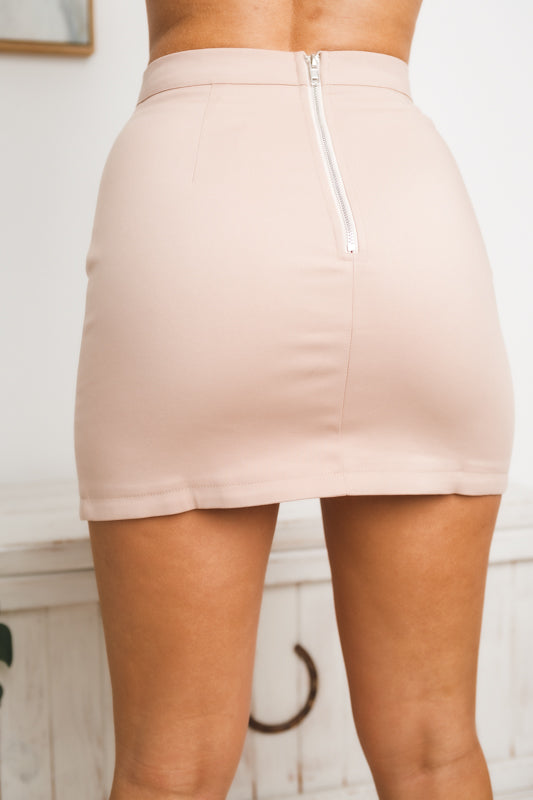 JULIANNE MINI SKIRT - Nude
