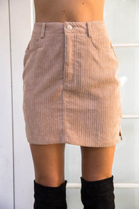 DEEPLY MINI SKIRT - Brown
