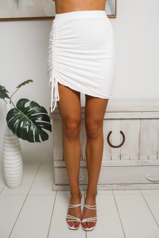 JADA MINI SKIRT - White