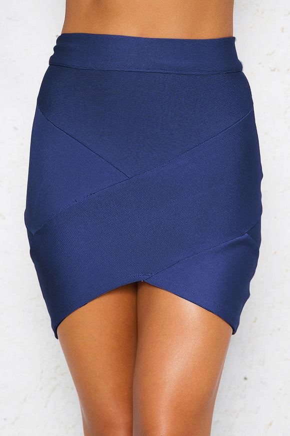 JUST FRIENDS MINI SKIRT - Navy