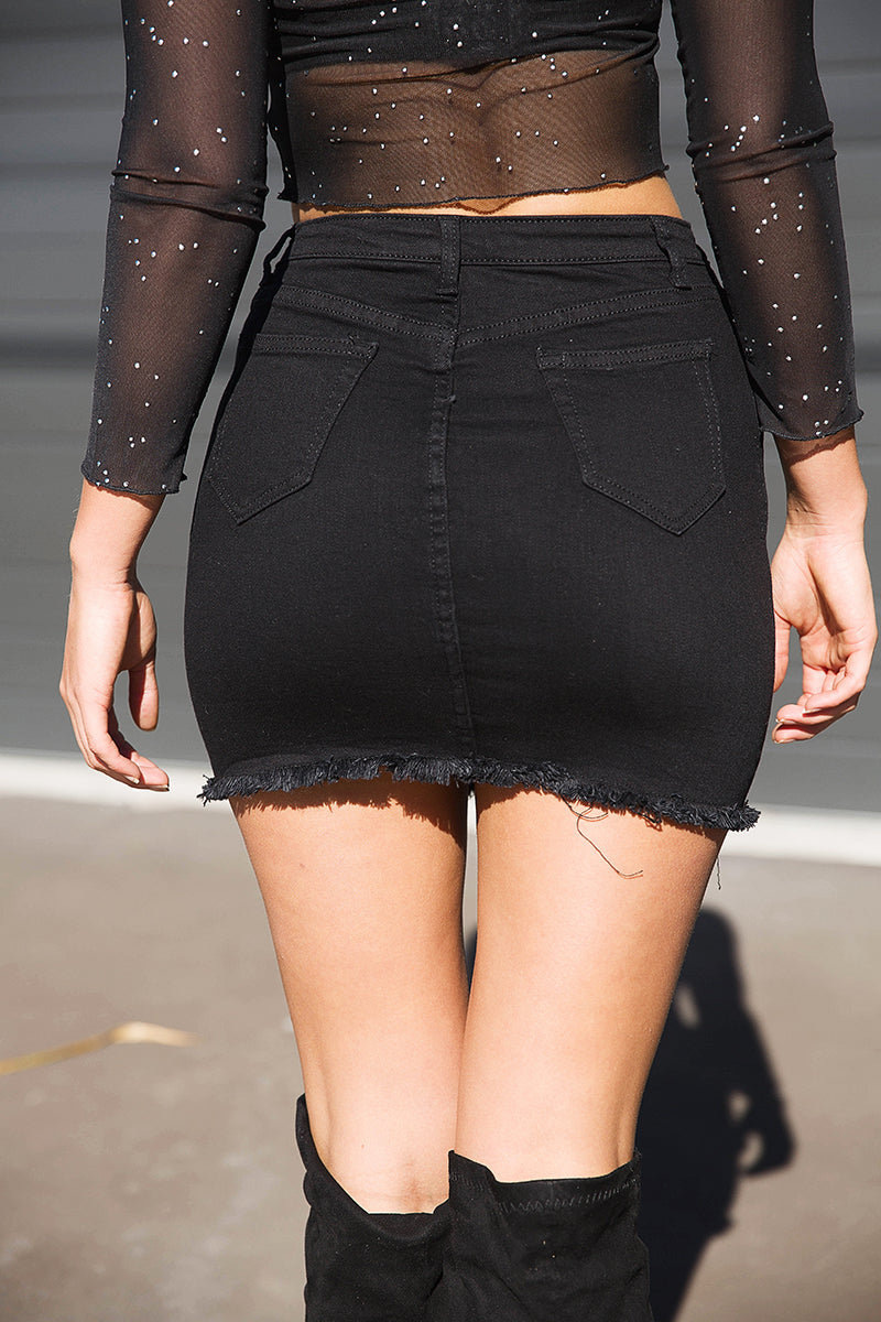 JOHNNY GIRL MINI SKIRT - Black