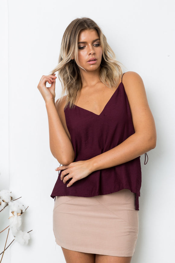 SERA SLEEVELESS TOP - Mulberry