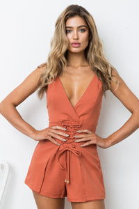 SPICE IT UP PLAYSUIT - Rust