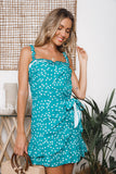 FREYA WRAP DRESS - Jade Floral