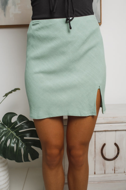 DARE DREAM MINI SKIRT - Sage
