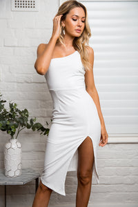 CASSA MIDI DRESS - White