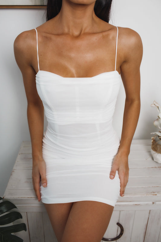 RENAE BODYCON DRESS - White