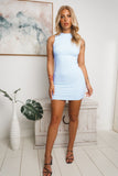 TENEAL SLEEVELESS MINI DRESS - Blue