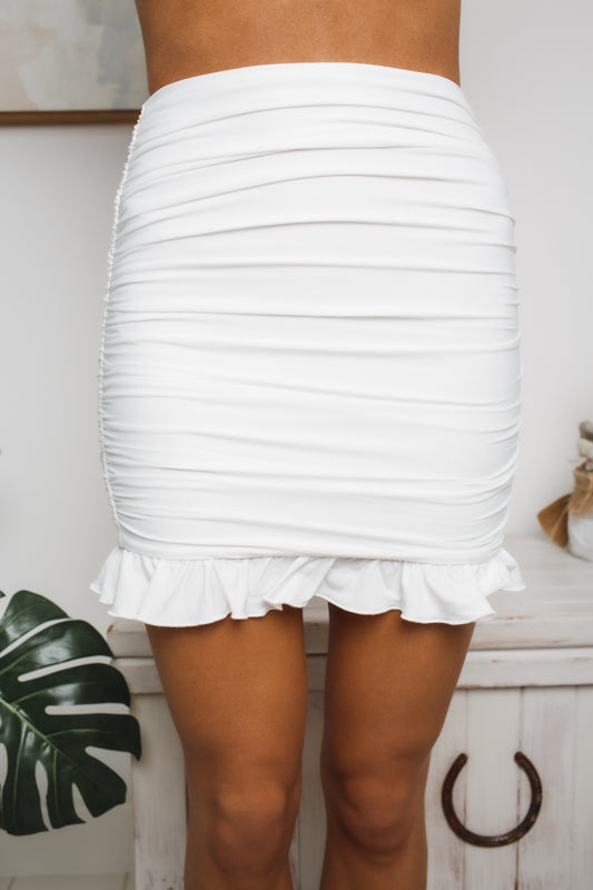 ELYSE MINI SKIRT - White