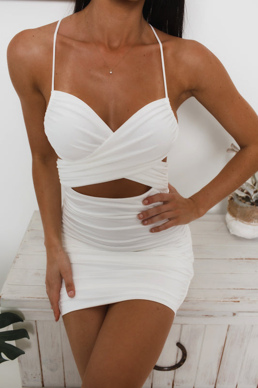 CHELSEA BODYCON DRESS - White