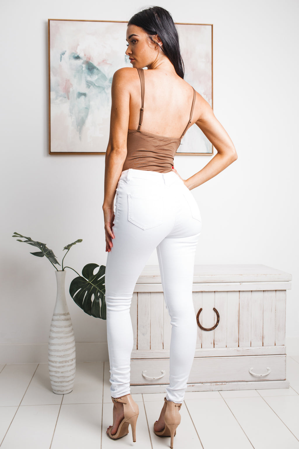 ELNA SLEEVELESS BODYSUIT - Brown