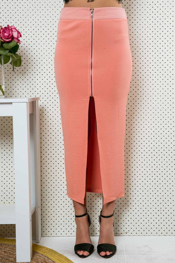 BEYOND IN MAXI SKIRT - Salmon