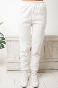 AMARA HIGH WAISTED TRACKPANTS - Light Grey