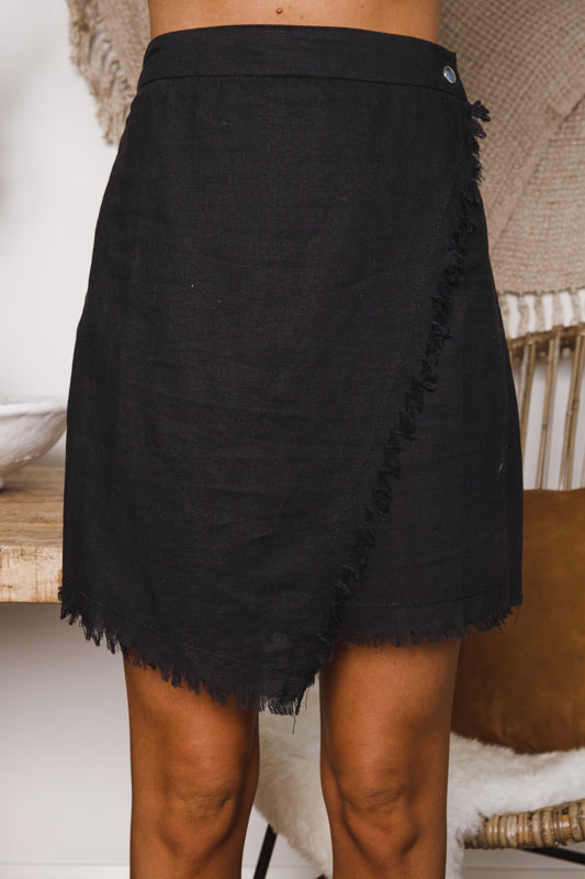 TOBIAS MINI SKIRT - Black