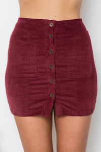 CONTESSA SKIRT - Maroon - Dolly Girl Fashion