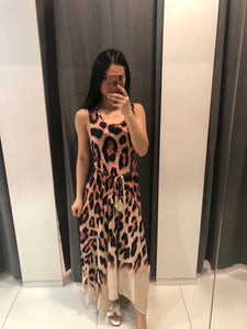 EGO SLEEVELESS MAXI DRESS - Leopard Print