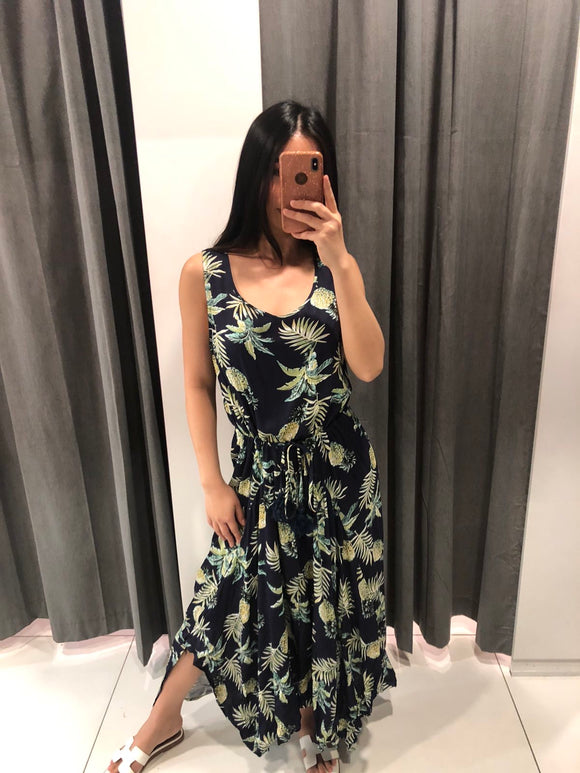 EGO SLEEVELESS MAXI DRESS - Navy Floral