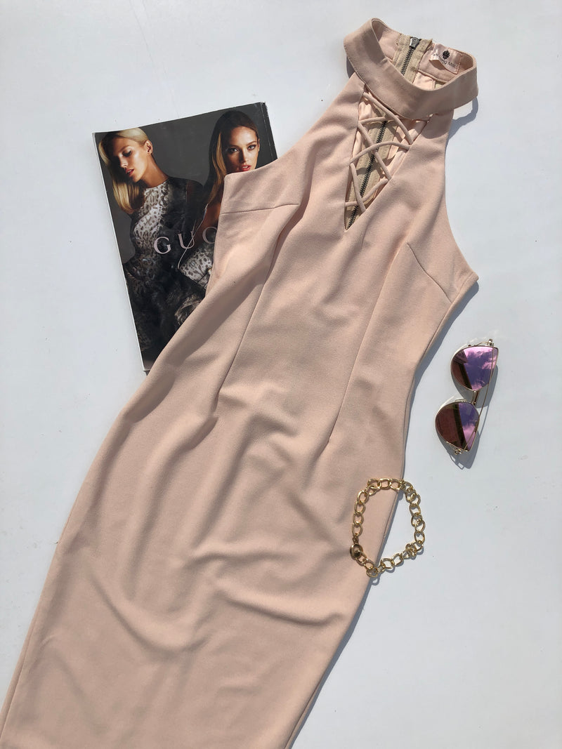 PALE RIVERA MIDI DRESS - Blush