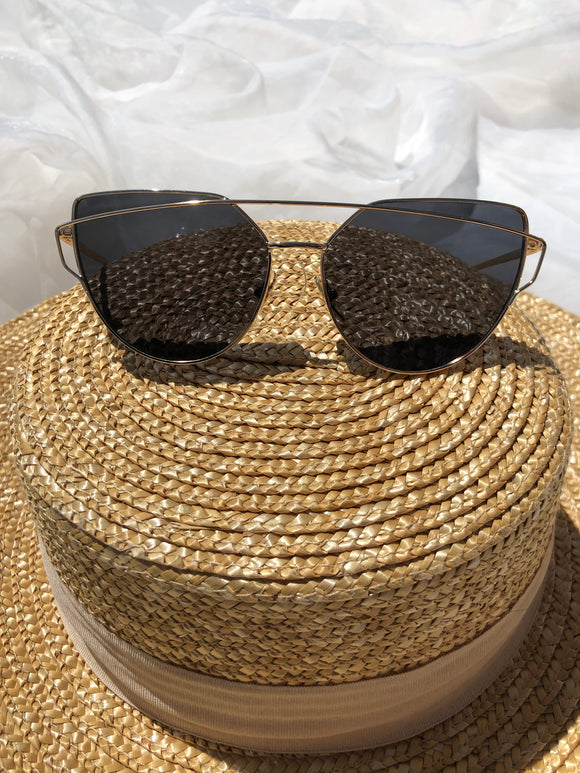 ZOYA SUNGLASSES - Black/Gold