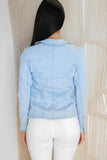 MINI MACHINES DENIM JACKET - Light Blue - Dolly Girl Fashion