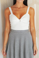 SNOW BUNNY CROP TOP - White