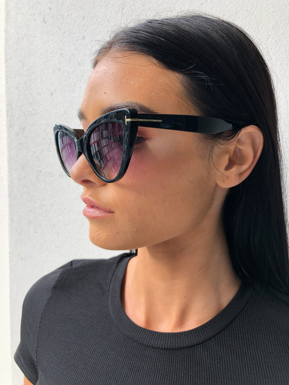 KATTI SUNGLASSES - Black/Purple
