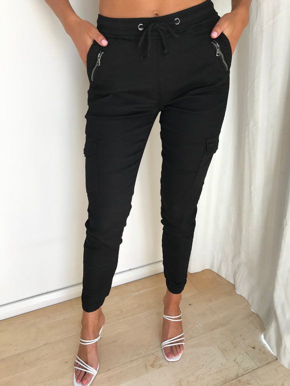 DUSTY ROADS PANTS - Black - Dolly Girl Fashion