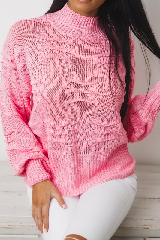 KEN DOLL LONG SLEEVE KNIT TOP - Pink