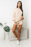 TERRIE KNIT SHORTS - Beige