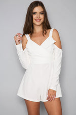 Summer Sweet Long Sleeve Mini Dress - White