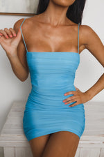 SUGAR COOKIES MINI DRESS - Blue