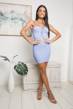ERICA MINI DRESS - Blue