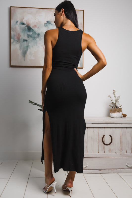 RACHAEL SLEEVELESS MAXI DRESS - Black