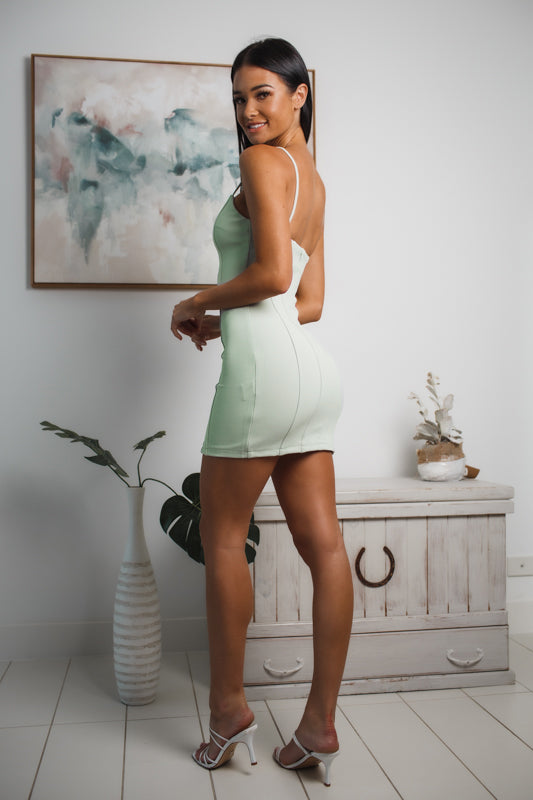 INDIE MINI DRESS - Light Mint