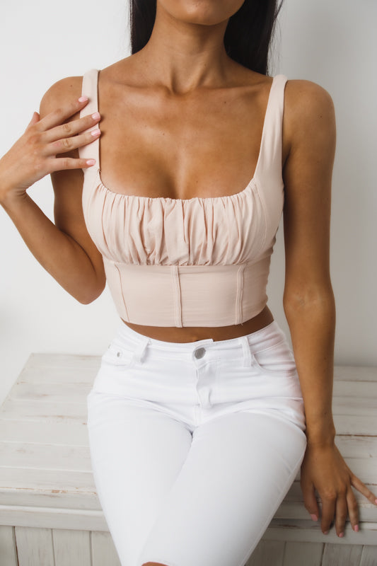 ANGEL CROP TOP - Beige