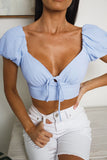 DOREEN CROP TOP - Blue