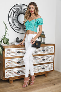 OAKS CROP TOP - Jade