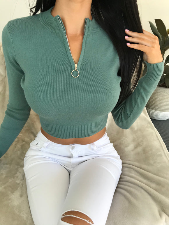 MARIANNA CROP TOP - Green