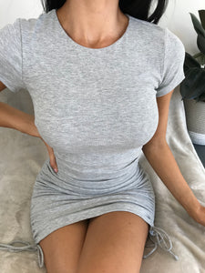 BASIC BABE MINI DRESS - Grey